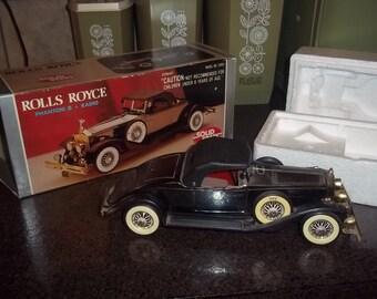 Vintage Rolls Royce Phantom II solid state radio in its original box!  Works!