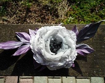 Brooch, Rose, Flower, silk flower