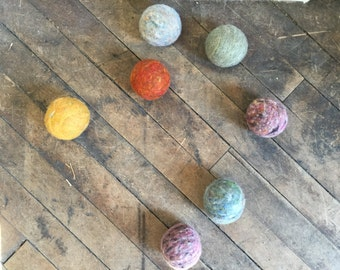 Wool dryer balls, Earthy  heathers set of 6 Free Shipping to USA