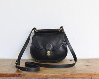 RESERVED Vintage Coach Bag // Coach Crossbody // Coach Round Mini Willis Winnie Bag Black 9927 // Coach Purse Handbag