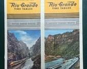 Rio Grande RailRoad Time Table