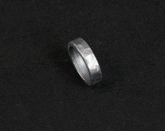 10 1/4 -- Hammered iron ring --  i11768