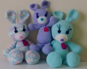 Amigurumi Crochet Pattern Rabbit PDF - Bunny amigurumi Toy crochet pattern - Instant DOWNLOAD