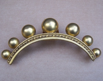 Victorian Hinged Hair Comb Gold Tone Metal Balls Hair Accessory Hair Jewelry Headdress Headpiece Hair Ornament Decorative Comb