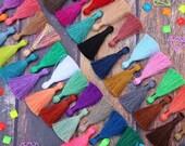 "2 Inch Silky Jewelry Tassels, SPRING Pantone Colors, Handmade Jewelry Making Mala Tassels, Quality Fashion Tassels, 2"", You Choose 3+ Colors"