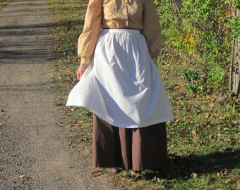 Womens Apron without a Pocket - Prairie Apron/Pioneer/Colonial Apron