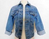 1980s Jean Jacket Vintage 80s Denim Jacket - XS / S