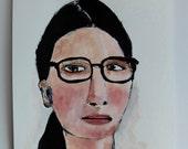 Original art // portrait painting // Jupiter no. 14 // original painting // illustration on paper // woman painting