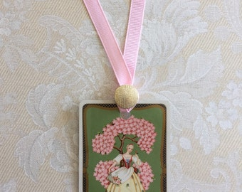 Vintage Playing Card Bookmark Ribbon and Vintage Button Bookmark Playing Cards