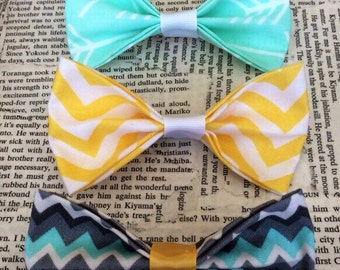 Bow tie hair clips set of 3