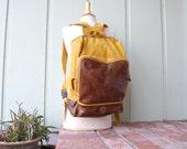 Treetap Amazon Wild Rubber Backpack Bok Bag Ruck Sack Essential Pack Vegan Cotton Mustard Yellow Brown Preppy Hipster Bicycle Moto Boho Bag