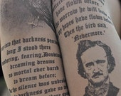 Womens Clothing - Edgar Allan Poe - Printed Tights -Quotes- Gray, White,Beige,Antique Pink Literature - Poems