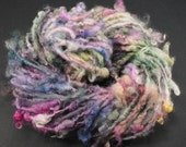 Handspun art yarn: Wensleydale locks, 4.5 oz, 49 yards