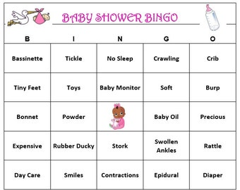 personalized baby shower bingo game baby themed bingo words