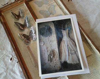 The Moth (Walter De La Mare) greetings card