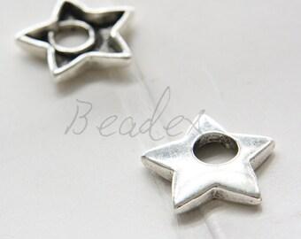 10pcs / Star / Oxidized Silver / Base Metal / Charm / 25.5x25.5mm (Y16546//A452)