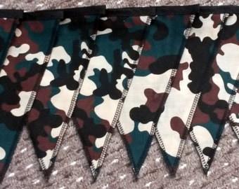 camo bunting - green camo bunting - camo bedroom decor - tough bunting - army camo bunting - camouflage bunting - army bunting