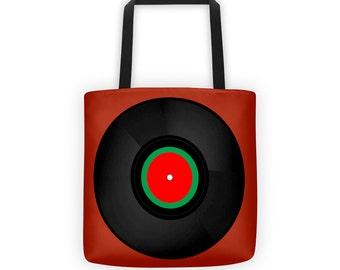 Vinyl Record Designer Tote Bag