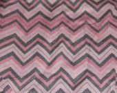 Pink and Gray Chevron Crib/Toddler Bed Fitted Sheet