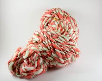 Handspun Yarn, Handspun Art Yarn, 80 yards, 4 wpi, Bulky Yarn