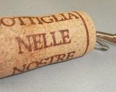 Wine Cork Key Chain Clip