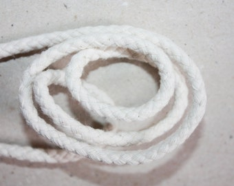6 mm Cotton Rope= 1 Spool= 20 Yards or more of Natural and Elegant COTTON BRAIDED CORD- Bulky Yarn- Super Bulky Yarn - Macrame Cotton Cord