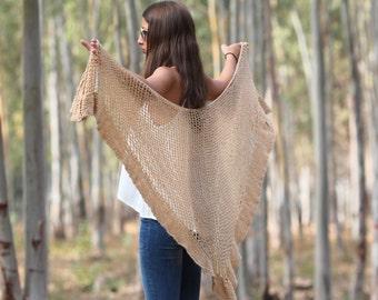 Shawl wrap Shawl crochet Wraps shawls Crochet shawl Beige shawl Wedding shawl Knit shawl Tan shawl Crochet Shawl