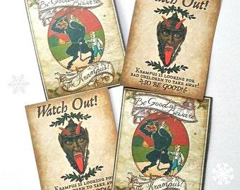 Krampus! - Small Sticker Labels