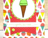 All Occasion Card, Ice Cream Card, Summer Card, You're So Cool, Handmade Cards
