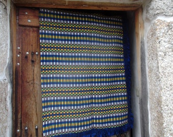TRADITIONAL Alentejo WOVEN BLANKET, Portuguese, throw, winter, picnic, camping, country chic,home decor