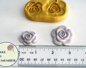 Rose mold for cake decorating, cupcake decorating, polymer clay or resin. Silicone mould for DIY wedding cakes M1108