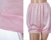 Superb genuine 1960's vintage 'Mylesta' glossy stretchy carnation pink incredibly soft shiny acetate french knickers tap panties - 3689
