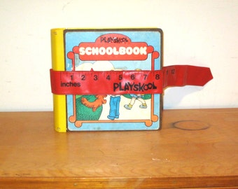 Vintage 1975 Playskool Schoolbook Playset