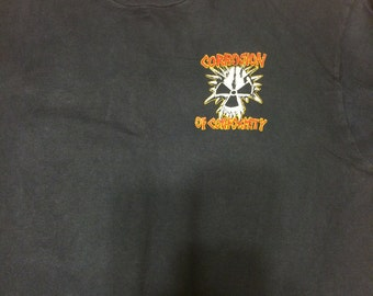 Super Rare Vintage Corrosion of Conformity T Shirt 2 sided