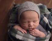 RTS!! Alpaca Diamond bonnet- Newborn Size- Photography Prop- cream