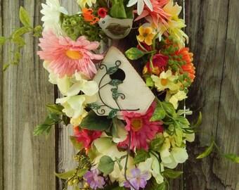 SUMMER WREATH SALE , Summer Wreath , Wreath , Wreath For The Door , Summer Door Wreath , Floral Wreath , Outdoor Wreath , Swag