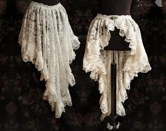 Wrap skirt lace, Victorian Steampunk bustle, romantic goth, Maeror, Somnia Romantica,aprox size medium see item details for measurements