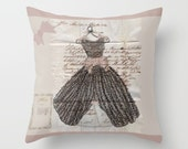 Decorative Throw Pillow Cover, Fancy Dress blush