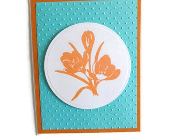Blank Flower Card Floral Note Card