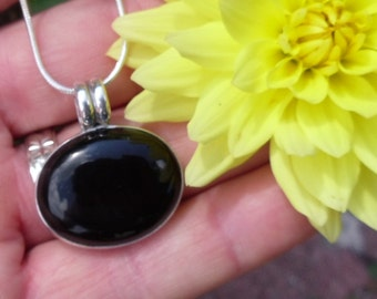 R183--Black Onyx Pendant