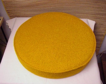 "4 Vintage 1970's Kalp-Son 18"" Replacement CHAIR Cushion Set Rattan California gold Butterscotch"