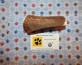 """Organic Large Elk Antler Dog Chew Split """"Made in Montana"""" (Lot C42)"""