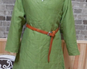 Historical Viking, Medieval linen tunic  - size XL - ships today!