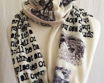 Wind In The Willows Literature Scarf, Literary Gift
