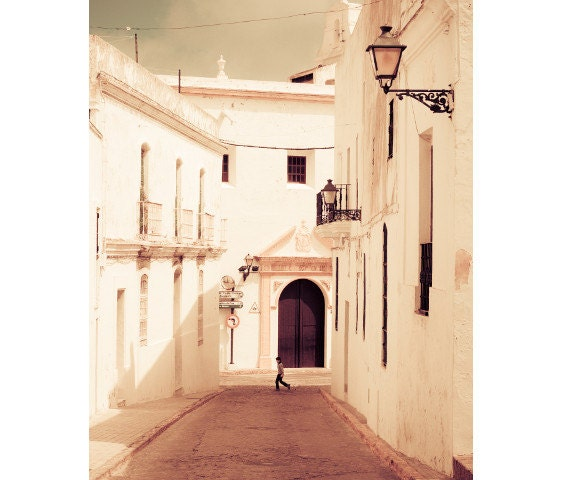 "Spain Photograph in White, Travel print, Spain art print, large photography - ""White Magic"""