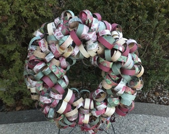 Christmas Curly Paper Wreath