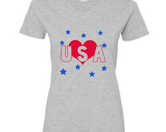 Love USA Metallic women shirt
