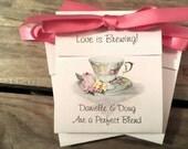 Springtime Teacup Tea Bag Favors - perfect for a Bridal Shower or  Wedding Party Favors