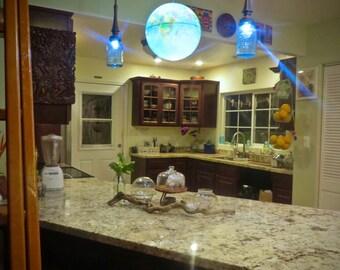 Exclusive Handmade Teak Canopy Kit for Installation of Pendant Lights or Chandelier ceiling cap Vintage Wooden Rosette Brown ceiling rose