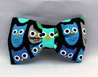 Dog Flower, Dog Bow Tie, Cat Flower, Cat Bow Tie - Owls